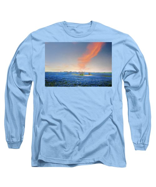 Spring Bluebonnets In Texas Long Sleeve T-Shirt by David and Carol Kelly