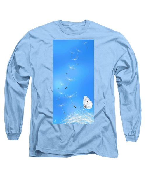 Long Sleeve T-Shirt featuring the painting Spring Lightness by Veronica Minozzi