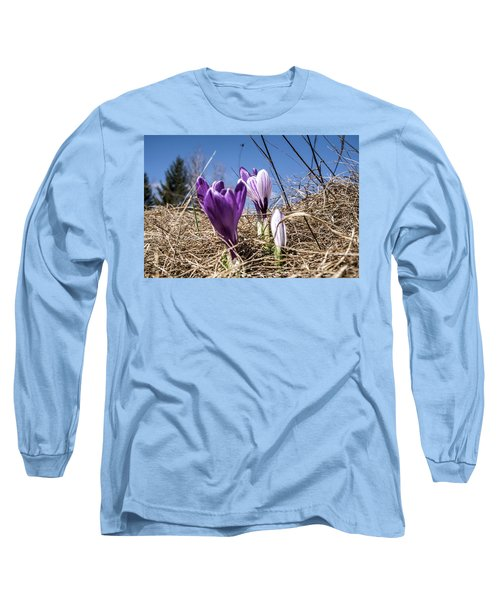 Spring On Bule Long Sleeve T-Shirt by Nick Mares