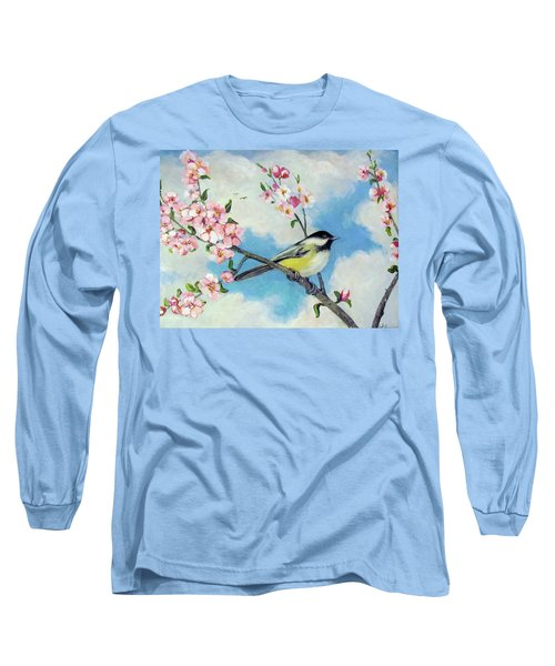 Long Sleeve T-Shirt featuring the painting Spring's Promise by Donna Tucker