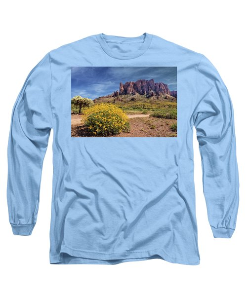 Long Sleeve T-Shirt featuring the photograph Springtime In The Superstition Mountains by James Eddy