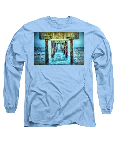 Long Sleeve T-Shirt featuring the photograph St. Augustine Beach by Louis Ferreira