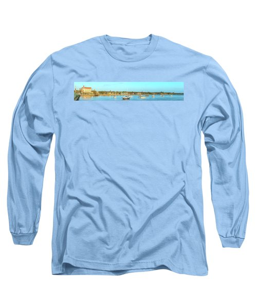 St Augustine Panorama Long Sleeve T-Shirt by Sebastian Musial