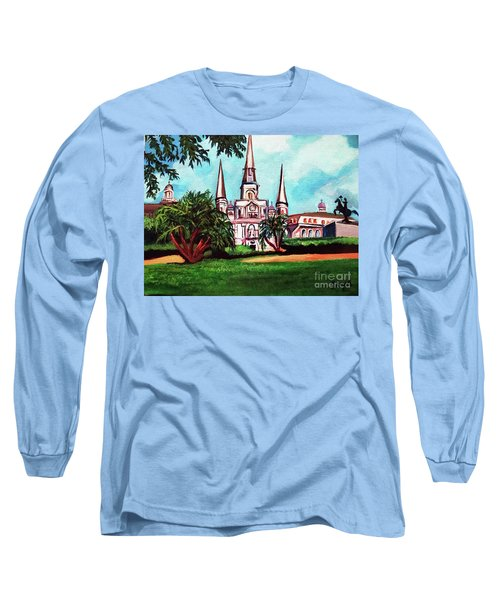 St. Louis Cathedral New Orleans Art Long Sleeve T-Shirt