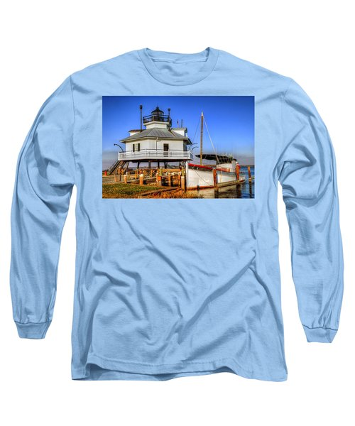 St Michaels Lighthouse Long Sleeve T-Shirt by Dave Mills