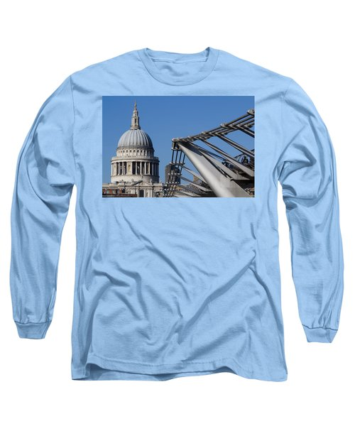 St Pauls Cathedral And The Millenium Bridge  Long Sleeve T-Shirt