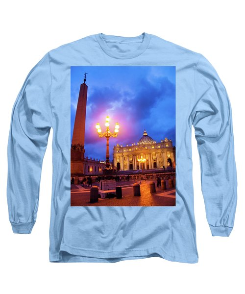 St. Peters Cathedral At Night Long Sleeve T-Shirt