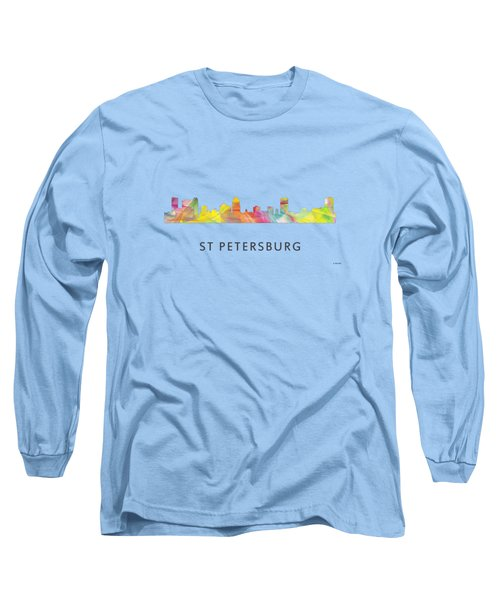 St Petersburg Florida Skyline Long Sleeve T-Shirt by Marlene Watson