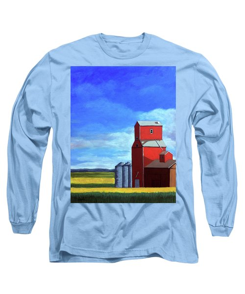 Long Sleeve T-Shirt featuring the painting Standing Tall by Linda Apple