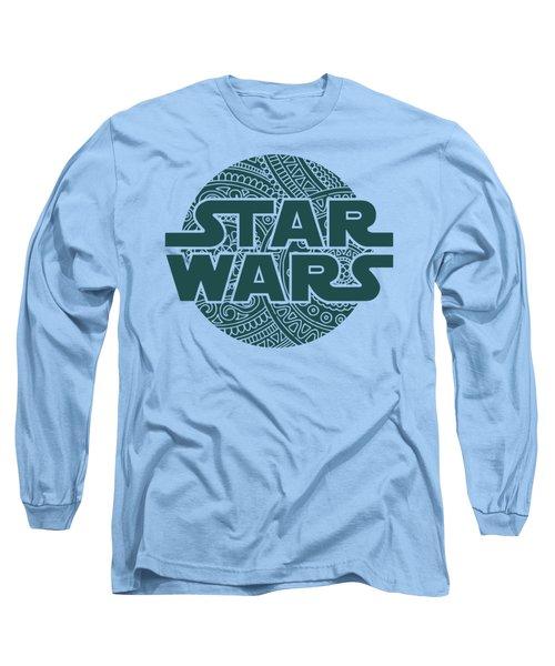 Star Wars Art - Logo - Blue 02 Long Sleeve T-Shirt