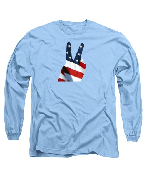 Stars And Stripes Peace Sign .png Long Sleeve T-Shirt