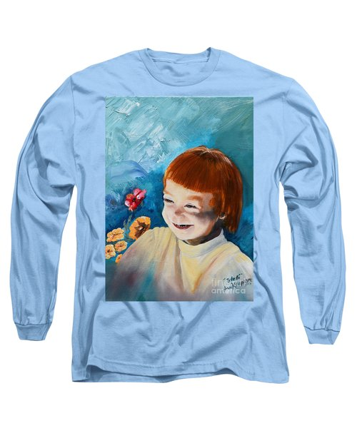 Stefi- My Trip To Holland - Red Headed Angel Long Sleeve T-Shirt