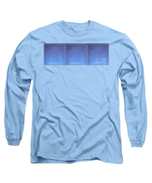 Stiched Leather Look Blue Abstract Wall Decorations By Navinjoshi At Fineartamerica.com Download Jpg Long Sleeve T-Shirt