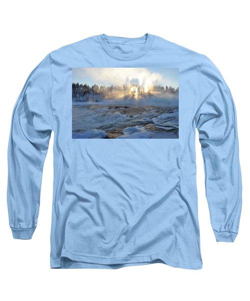 Storforsen, Biggest Waterfall In Sweden Long Sleeve T-Shirt by Tamara Sushko