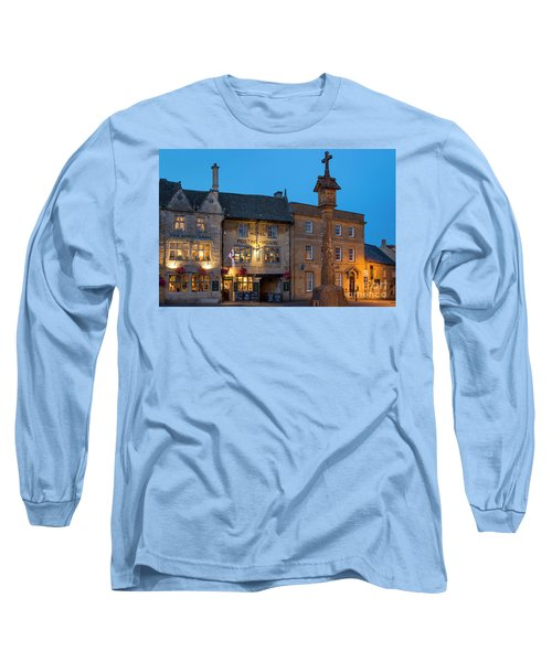 Long Sleeve T-Shirt featuring the photograph Stow On The Wold - Twilight by Brian Jannsen