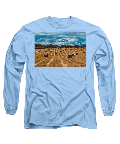 Straw Bales In A Field Long Sleeve T-Shirt