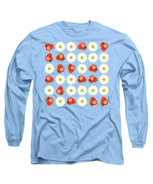 Strawberries And Daisies Long Sleeve T-Shirt