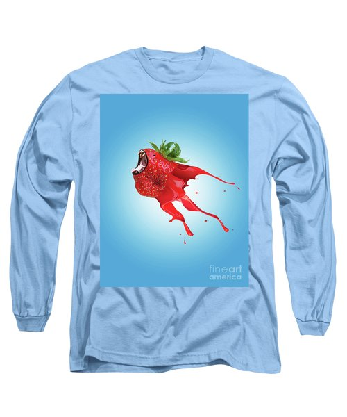 Long Sleeve T-Shirt featuring the photograph Strawberry by Juli Scalzi