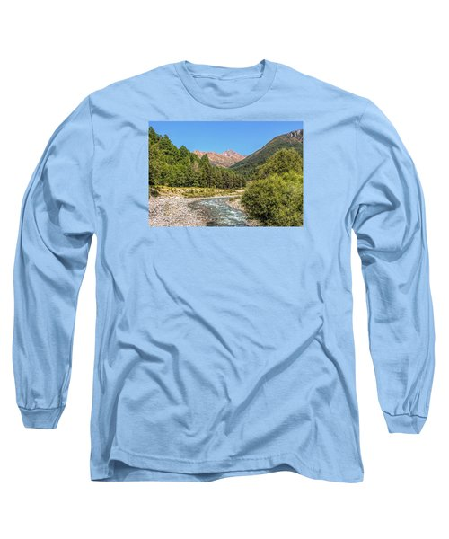 Long Sleeve T-Shirt featuring the photograph Streaming Through The Alps by Brent Durken
