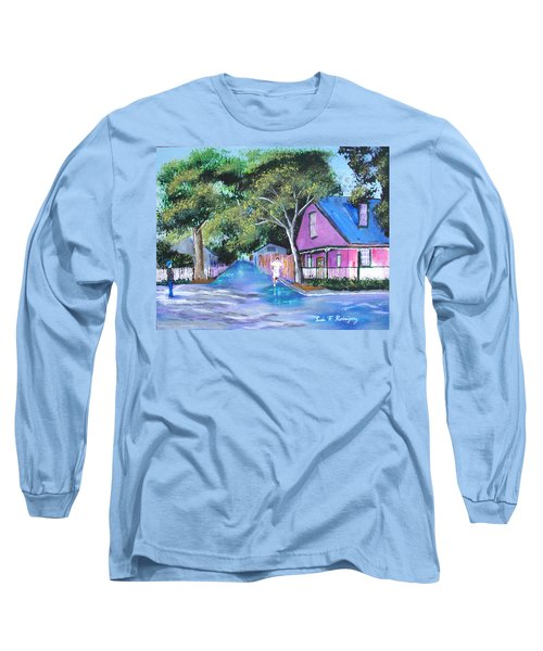 Street In St Augustine Long Sleeve T-Shirt by Luis F Rodriguez