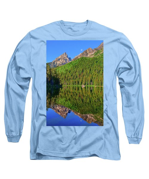 String Lake Morning Mirror Long Sleeve T-Shirt by Greg Norrell