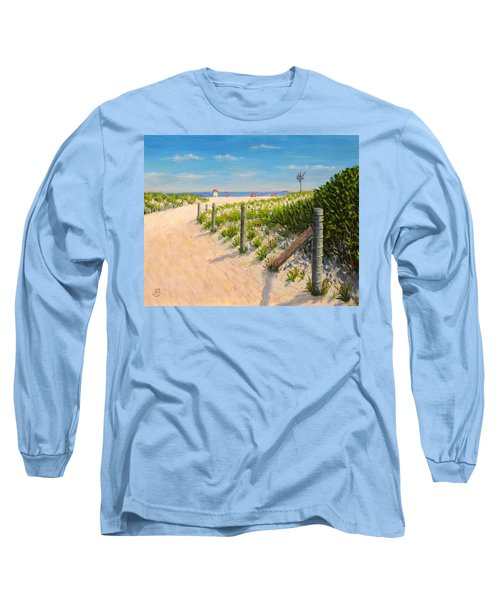 Long Sleeve T-Shirt featuring the painting Summer 12-28-13 by Joe Bergholm