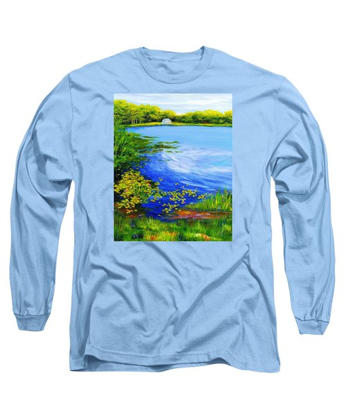 Summer At The Lake Long Sleeve T-Shirt by Anne Marie Brown