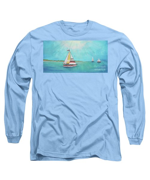 Long Sleeve T-Shirt featuring the painting Summer Breeze-b by Jean Plout