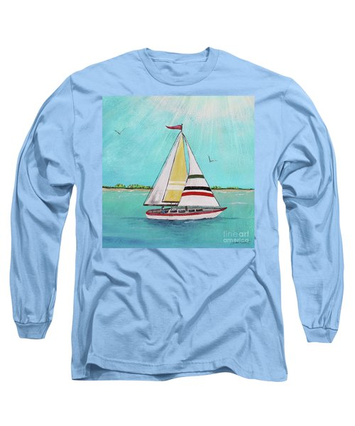 Long Sleeve T-Shirt featuring the painting Summer Breeze-d by Jean Plout