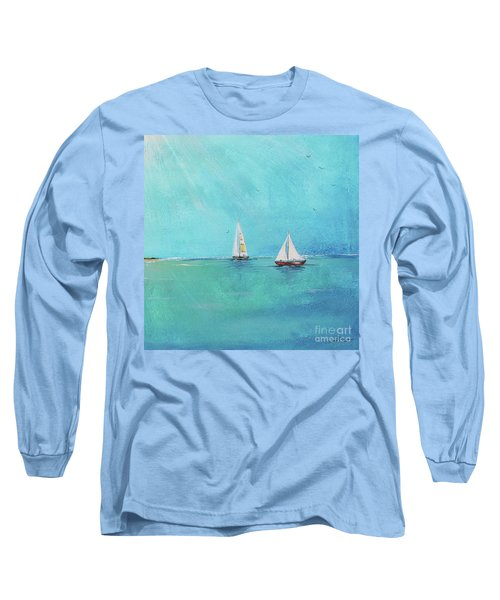 Long Sleeve T-Shirt featuring the painting Summer Breeze-e by Jean Plout
