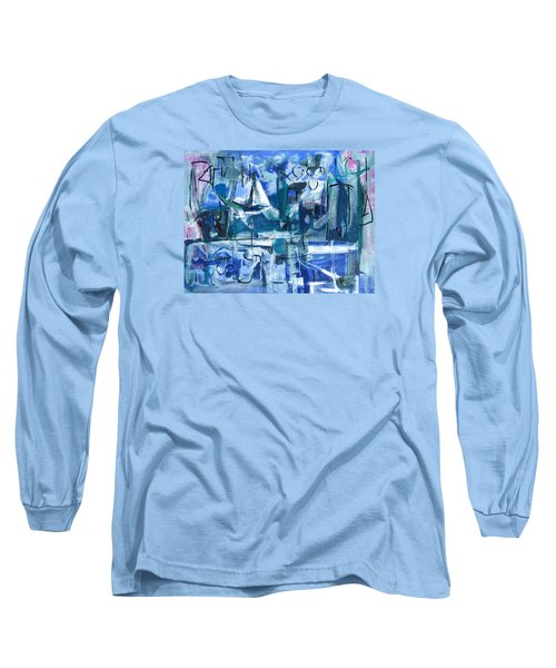 Long Sleeve T-Shirt featuring the painting Summer Coming Down Final Version by Betty Pieper