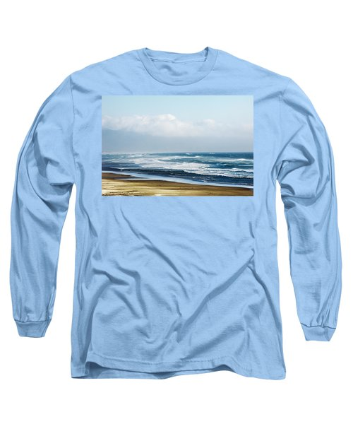 Summer Waves Netarts Oregon Long Sleeve T-Shirt