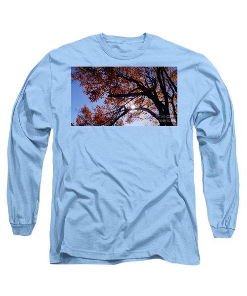 Long Sleeve T-Shirt featuring the photograph Sun Peaking Threw by Debra Crank