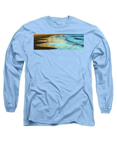 Sun Splashed Waves At Point Reyes National Seashore California Long Sleeve T-Shirt by Wernher Krutein