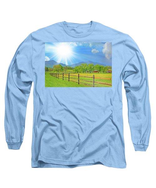 Sunburst Over Peaks Of Otter, Virginia Long Sleeve T-Shirt