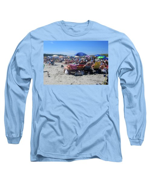Sunday At The Beach Long Sleeve T-Shirt by Paul Meinerth