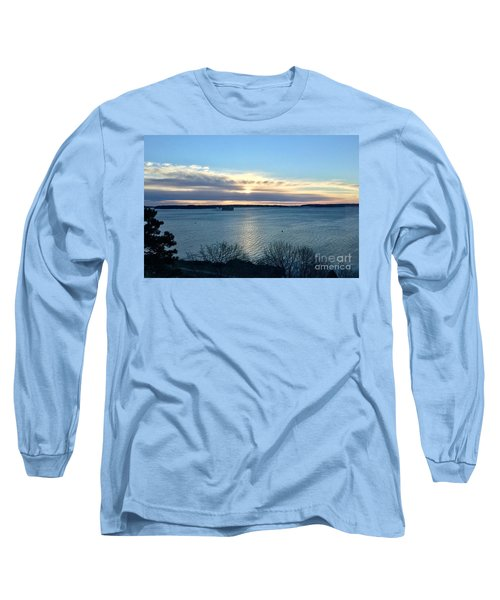 Sunday Sunrise On Casco Bay Long Sleeve T-Shirt