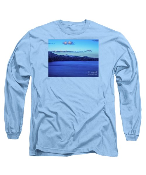 Long Sleeve T-Shirt featuring the photograph Sundown At Crater Lake by Nancy Marie Ricketts