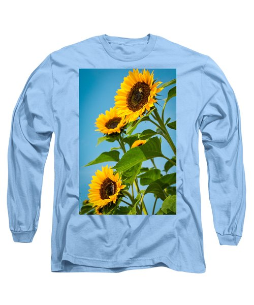 Sunflower Morning Long Sleeve T-Shirt by Debbie Karnes