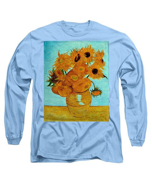 Sunflowers Long Sleeve T-Shirt by Henryk Gorecki