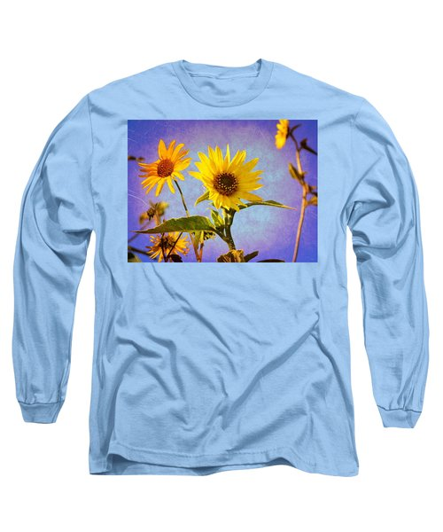 Sunflowers - The Arrival Long Sleeve T-Shirt by Glenn McCarthy Art and Photography