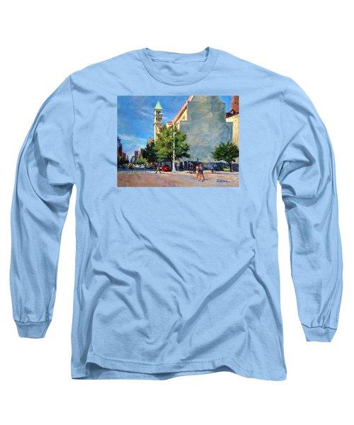 Summer Morning Near St. Michael's Church, Amsterdam Ave. Long Sleeve T-Shirt