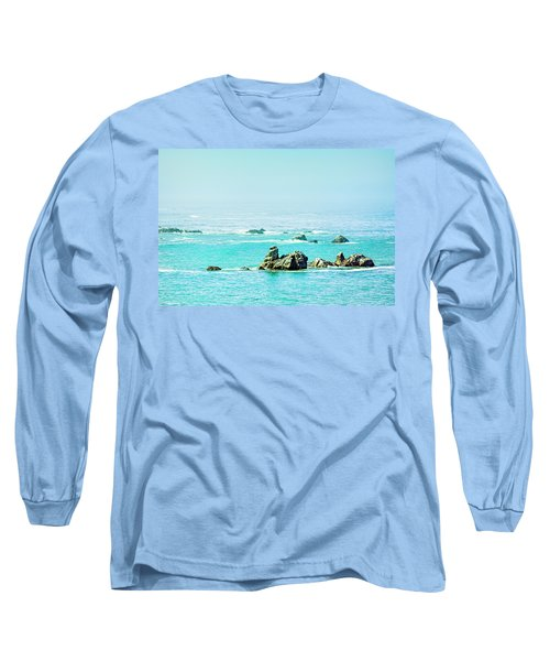 Sunny Pacific Ocean Oregon Coast Long Sleeve T-Shirt