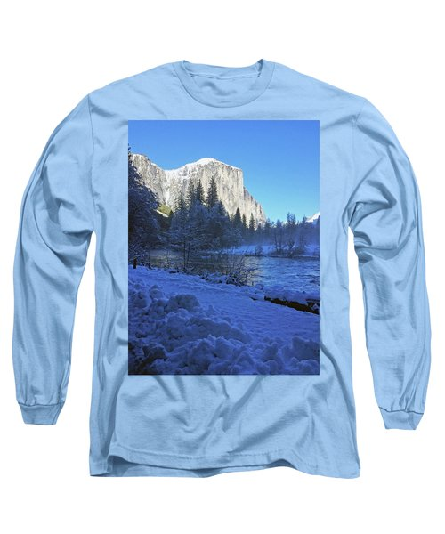 Long Sleeve T-Shirt featuring the photograph Sunny Winter Day 01 13 17 by Walter Fahmy
