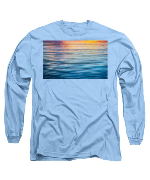 Sunrise Abstract On Calm Waters Long Sleeve T-Shirt