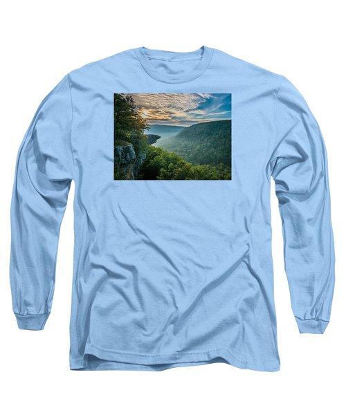 Sunrise At Hawksbill Crag Long Sleeve T-Shirt