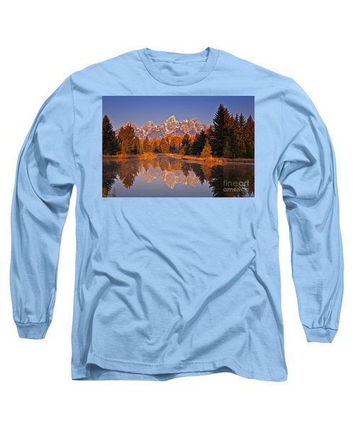 Sunrise At Schwabacher Landing  Long Sleeve T-Shirt