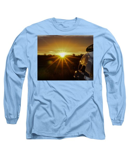 Long Sleeve T-Shirt featuring the photograph Sunrise And My Ride by Jeremy McKay