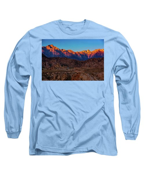 Sunrise Illuminating The Sierra Long Sleeve T-Shirt