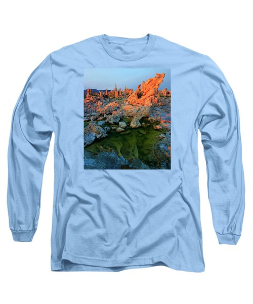 Sunrise On Tufa 2 Long Sleeve T-Shirt by Sean Sarsfield